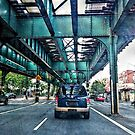 Driving Under the Elevated Subway in the Bronx by Jane Neill-Hancock