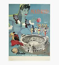 Vintage Travel Poster Spain Photographic Print