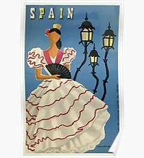 Vintage Travel Poster Spain Poster