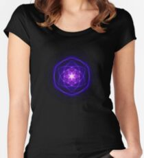 Energetic Geometry - Indigo Prayers Women's Fitted Scoop T-Shirt