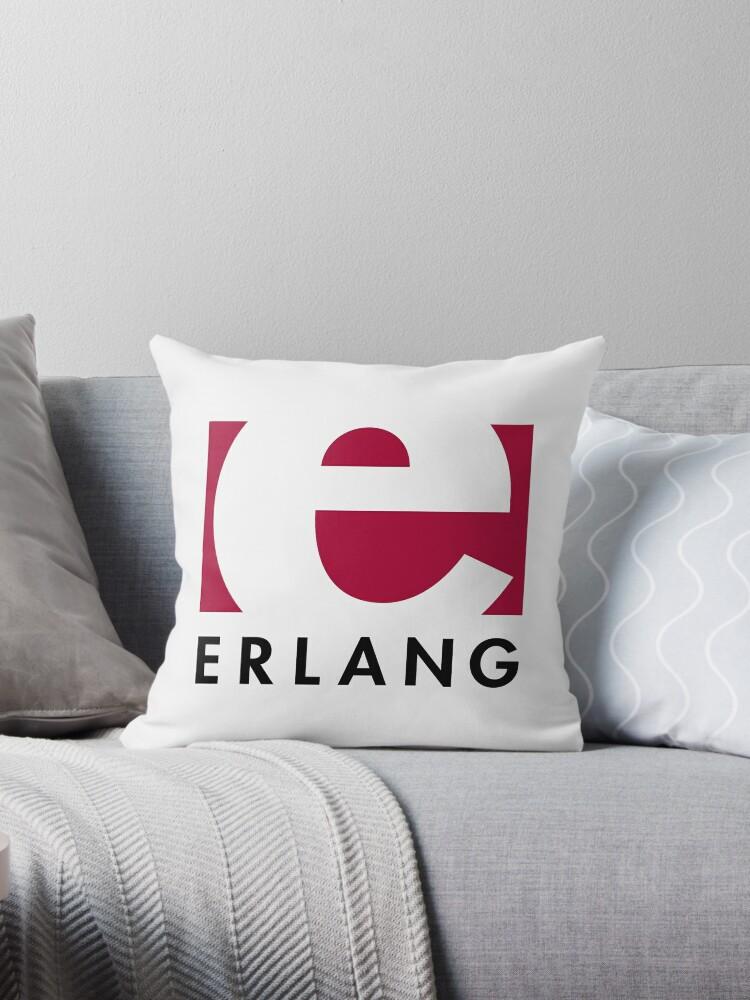'Erlang programming language logo' Throw Pillow by UnitShifter