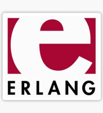 Erlang programming language logo Sticker
