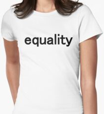 equality Womens Fitted T-Shirt