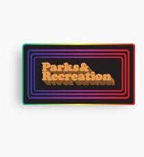 Parks and Rec Retro Logo Canvas Print