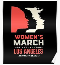 Womens March On Los Angeles Poster