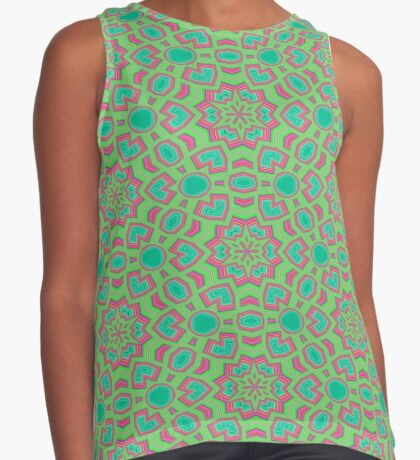 Intersecting Circles by Julie Everhart Sleeveless Top
