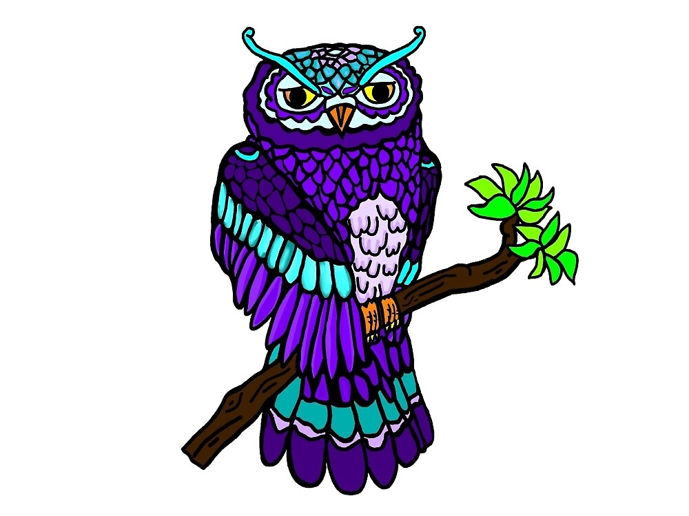 Purple Owl by imphavok