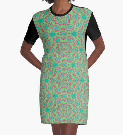 Intersecting Circles by Julie Everhart Graphic T-Shirt Dress