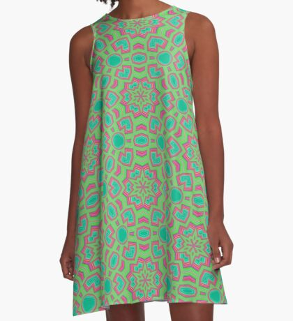 Intersecting Circles by Julie Everhart A-Line Dress
