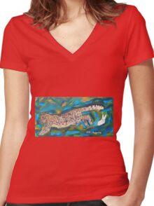 Lucky Rabbit Women's Fitted V-Neck T-Shirt