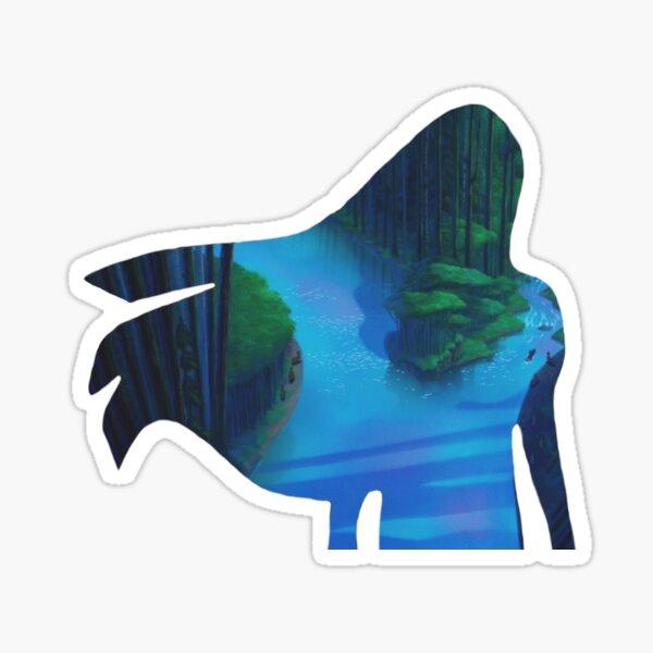 Around the River Bend Sticker