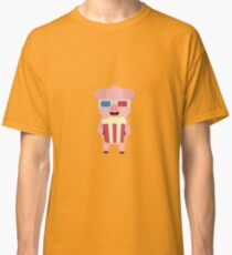 Cinema Pig with Popcorn Classic T-Shirt