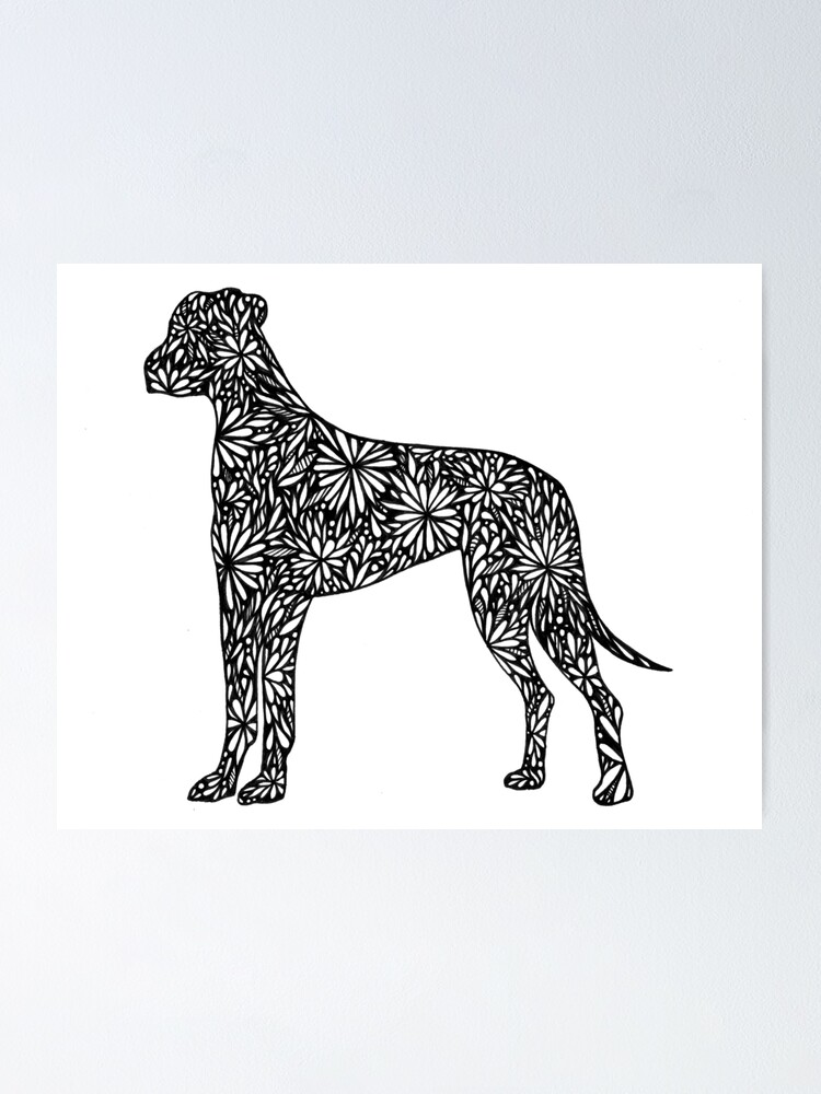 Great Dane Doodle Dogs Poster