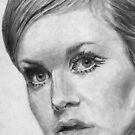 MOD STYLE TWIGGY Model art by Derek Michael Brennan