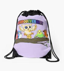 Neurodiversity - Birb Friends Drawstring Bag