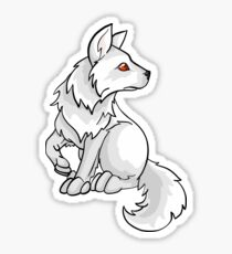 Ghost Direwolf Puppy Design Sticker