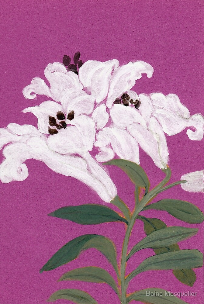 Lilies from Amphai by Baina Masquelier