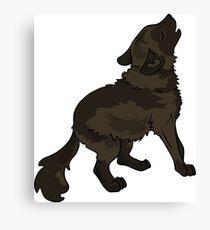 Shaggy Dog Dire Wolf Cub Puppy Canvas Print