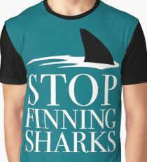 STOP FINNING SHARKS Graphic T-Shirt