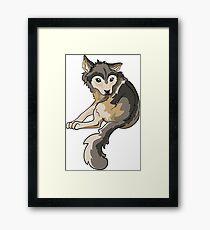Nymeria Dire Wolf Cub Puppy Framed Print
