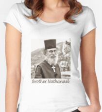 Brother Nathanael. Women's Fitted Scoop T-Shirt