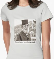 Brother Nathanael. Womens Fitted T-Shirt