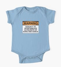 WARNING: SUBJECT TO SPONTANEOUS OUTBURSTS OF SONG AND DANCE One Piece - Short Sleeve
