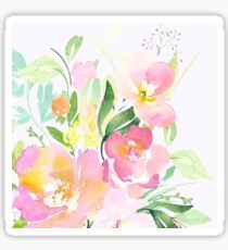 Pastel Watercolor Flowers Sticker