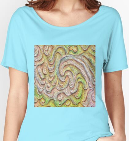 Frozen spring wave #DeepDream #Art | Sasalusais pavasara vilnis Relaxed Fit T-Shirt