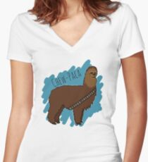 Chewbacca Alpaca Women's Fitted V-Neck T-Shirt