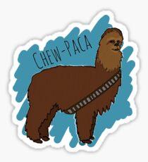 Chewbacca Alpaca Sticker
