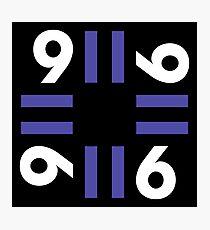 9-11 Blue Photographic Print