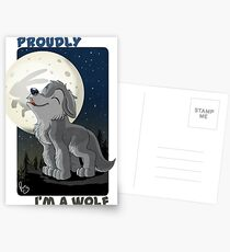 Proudly I'm a wolf Postcards