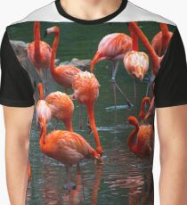 Pink Pelicans  Graphic T-Shirt
