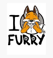 I grrarrrgh furry (fox version) Photographic Print