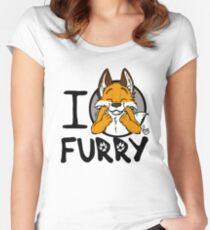 I grrarrrgh furry (fox version) Women's Fitted Scoop T-Shirt