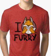 I grrarrrgh furry (fox version) Tri-blend T-Shirt