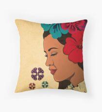 Vintage Hawaiian Gril Throw Pillow