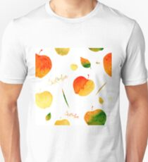 Watercolor apples and leaves T-Shirt
