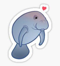 Manatee Love Sticker