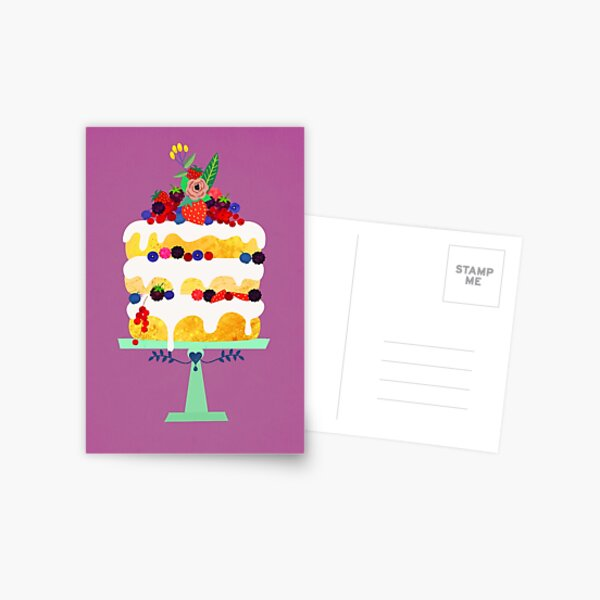 Berry fairy cake Postcard