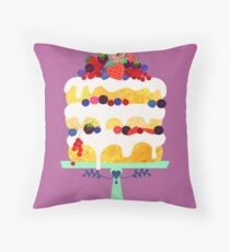 Berry fairy cake Throw Pillow