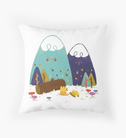 Let's Explore Throw Pillow