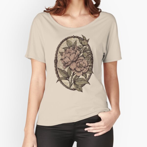 Botanicals - Peonies vintage Relaxed Fit T-Shirt