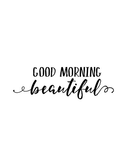 Genial Good Morning Beautiful,gift For Her,bedroom Decor,romantic Quote,typography  Posters