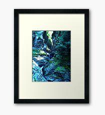 Watkins Glen, New York Mountain Adventure Travel Framed Print