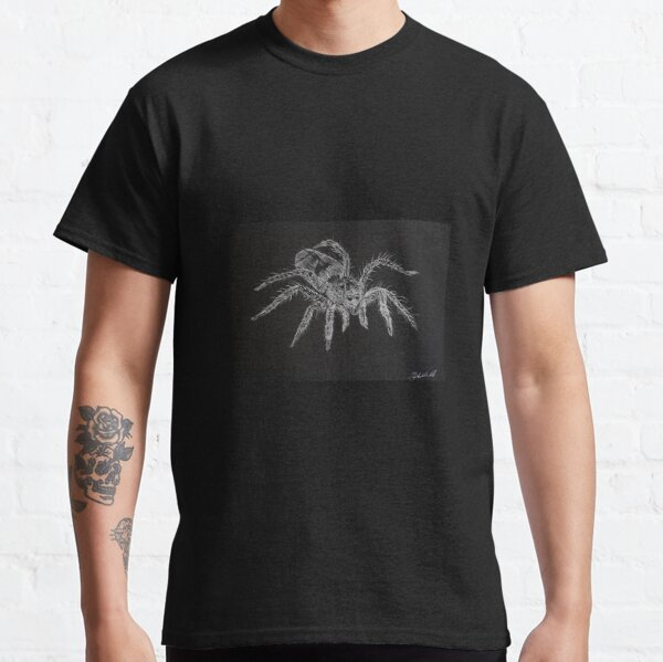 Zebra spider (Salticus scenicus) by Liz H Lovell  Classic T-Shirt