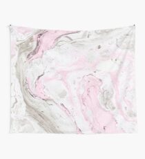 Pink and gray marble Wall Tapestry
