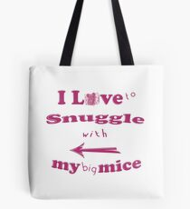 Snuggle with Big Mice ~ Tiny Sweet Mice Line Tasche