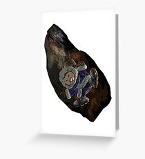 Ice climber pain Greeting Card